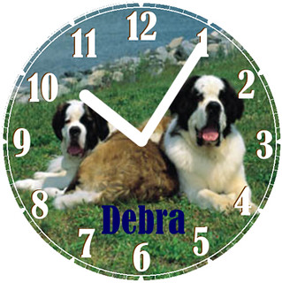 Debra's Show Dogs Pet Clock | by customclockface