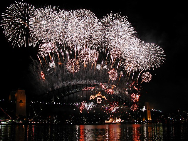 New Years Eve Fireworks, Sydney Harbour Bridge