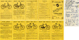 Catalogue d'un vendeur de bicyclettes à Cressia