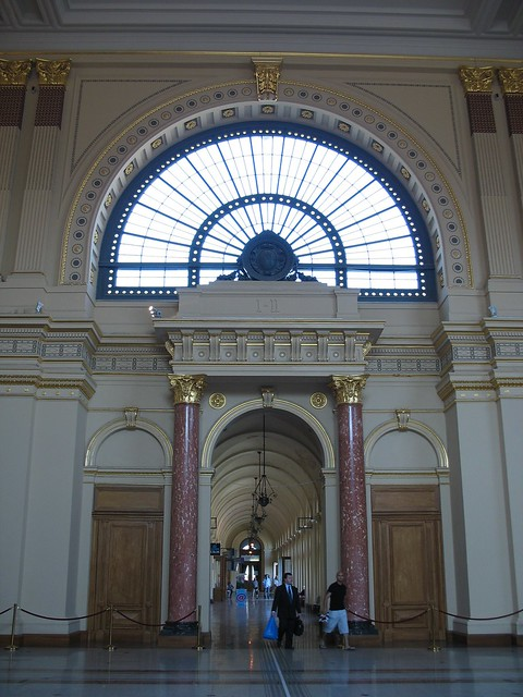 The train station in Budapest, en route to Vienna