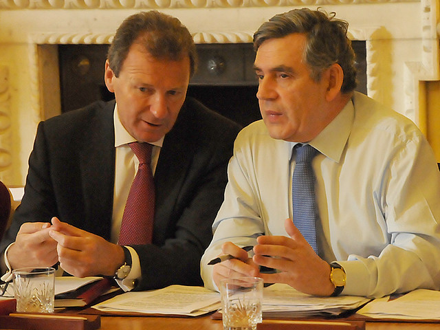 Cabinet Meeting At Downing Street Gordon Brown And border=