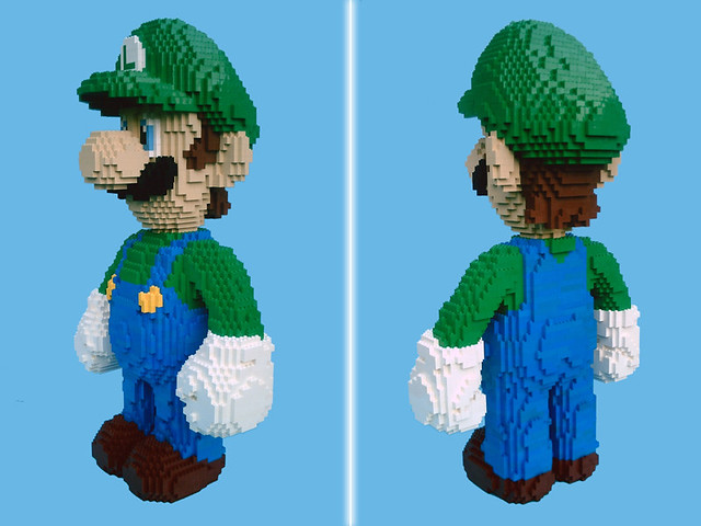LEGO Luigi - isometric views