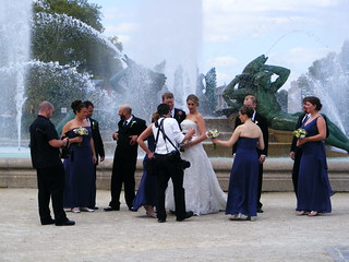 the (unsuspecting) wedding party