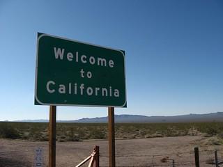 Bienvenue en Californie, frontière Nevada-Californie, États-Unis 95