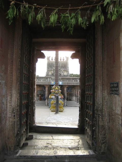Through the Rajaggopura Entrance