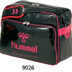 [hummel]エナメルショルダーバッグ(L) HFB3041-9026ブラック×ローズピンク