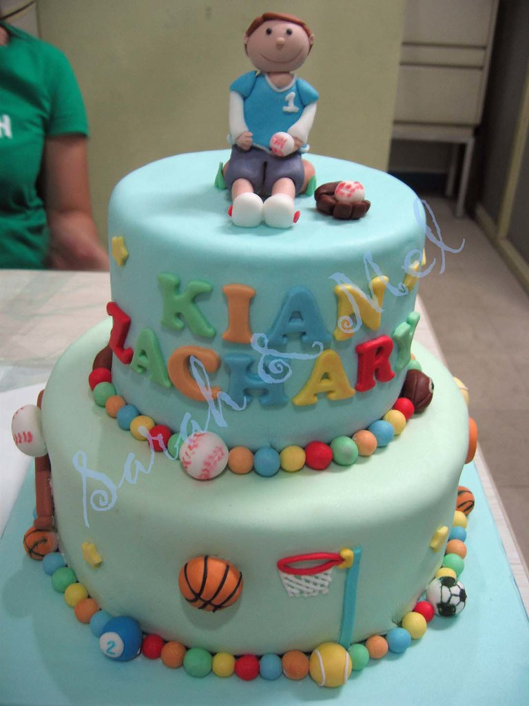 Brilliant Kians Sports Themed Birthday Cake Perfect Cakes Flickr Funny Birthday Cards Online Alyptdamsfinfo