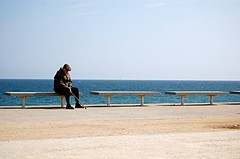 sea bench man | by stvcr