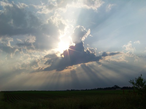 sky sun storm field clouds illinois midwest stlouis troy crepuscular kodam z812is