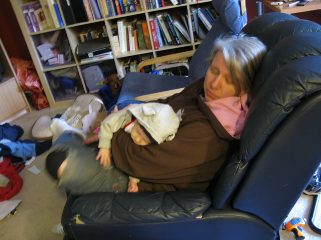 Sleepy Baby Theo with Grandma Amy