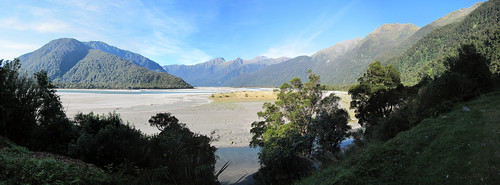 newzealand panorama mountain haastriver