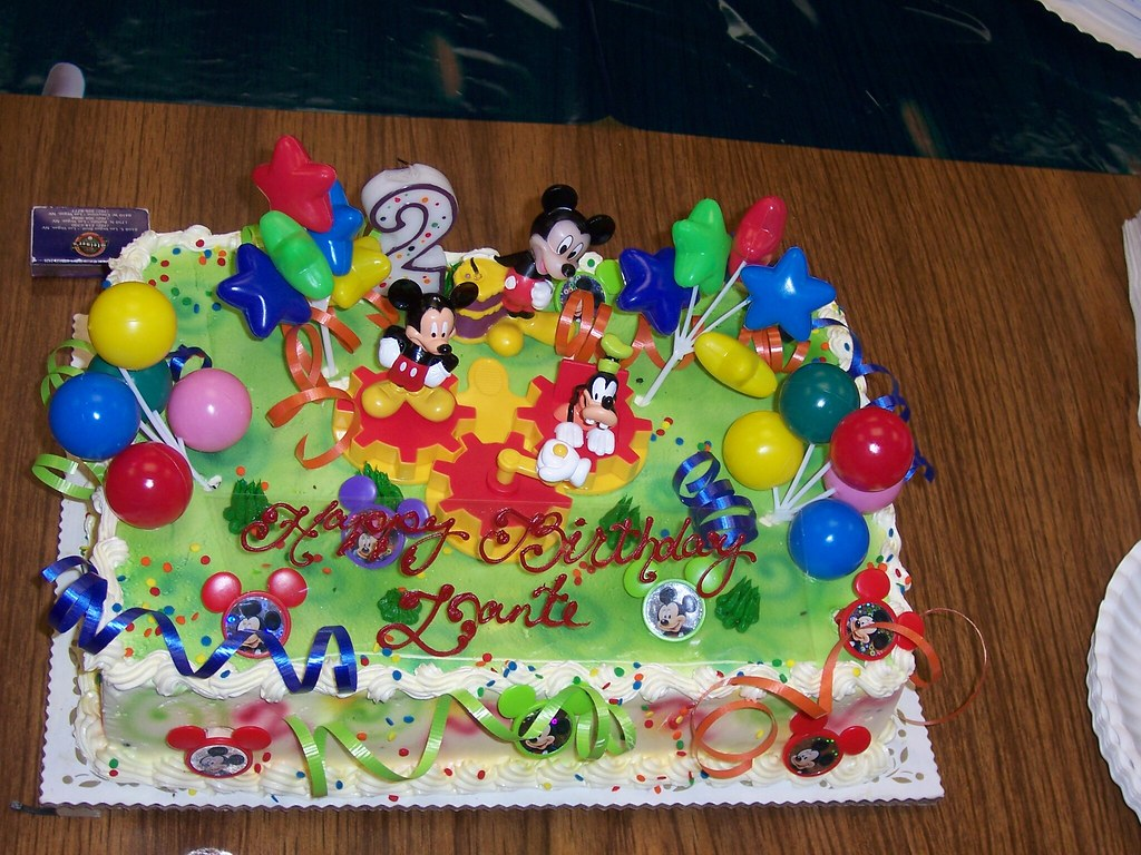 Mickey Mouse Birthday Cake Dantes 2nd Birthday Flickr