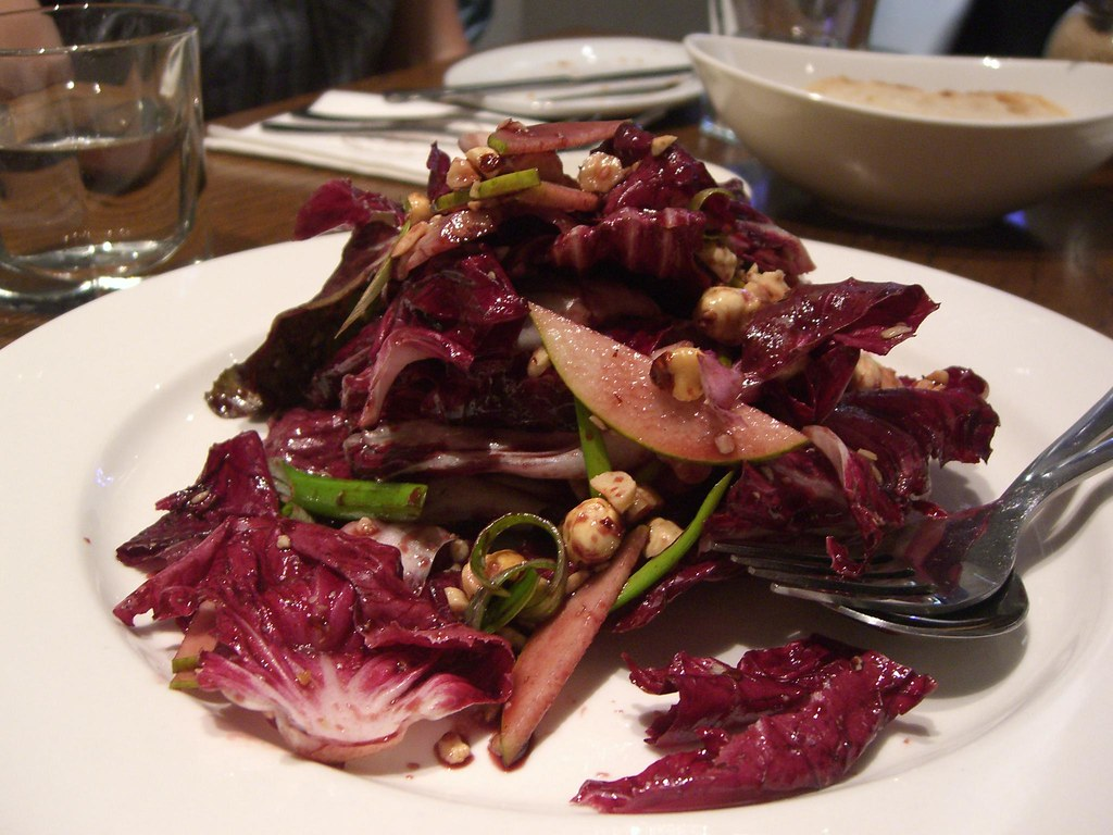 Radicchio, Pear, Hazelnut Salad with Pecorino Cheese and vincotto Dressing - Solarino AUD13.90