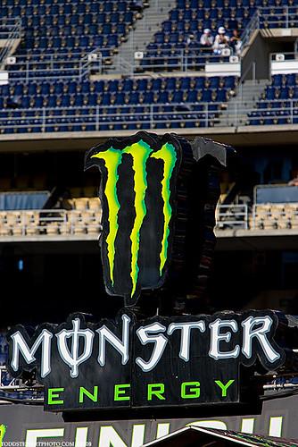 Monster Energy finifh line