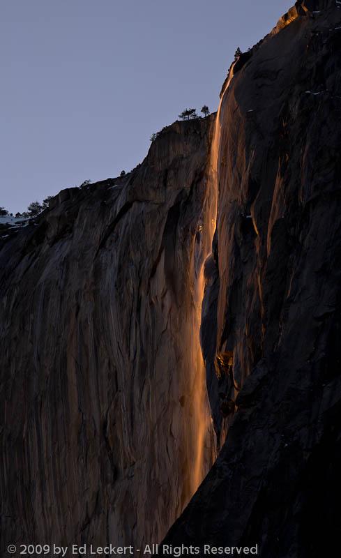 Horsetail Fall at Sunset, Yosemite National Park