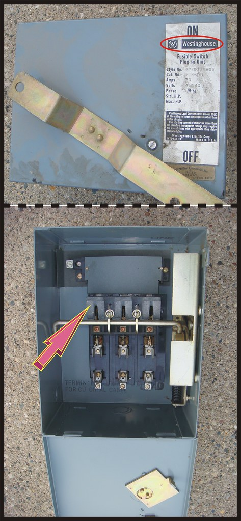 westinghouse electrical fuse box with asbestos two images flickr  westinghouse fuse box #2