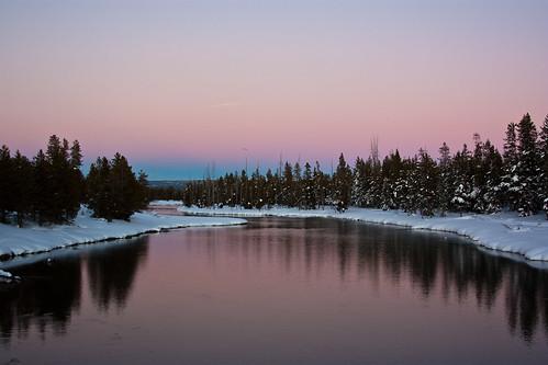 sunset snow idaho islandpark