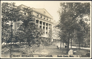 Battle Creek MI RPPC Hospital Sanitarium beautiful Main Entrance and Grounds John Harvey Kellogg Founder Card #7 Postmarked 1912 | by UpNorth Memories - Don Harrison