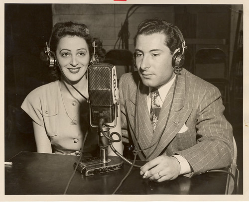 Jean Weil in ABC studio making international phone call | by JWA Commons