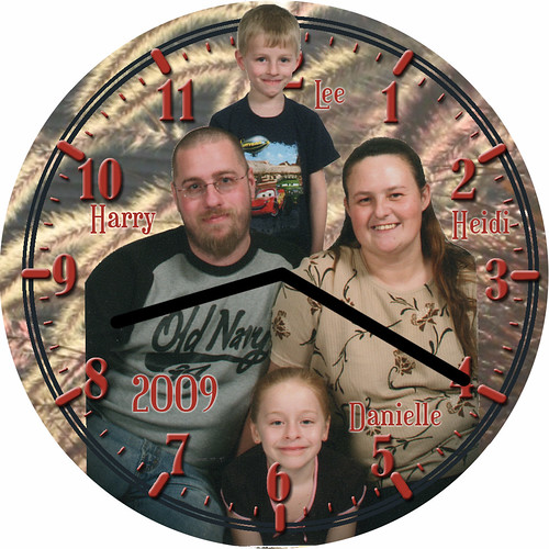 Heidi Family Clock | by customclockface