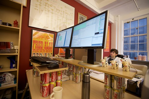 The Coke-can standing desk on its last day | by Marco Arment