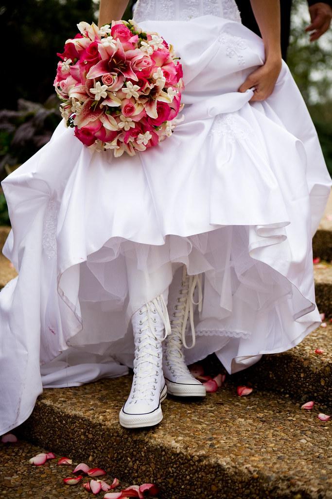 2converse all star wedding