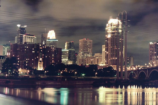 Downtown Minneapolis view from Riverfront