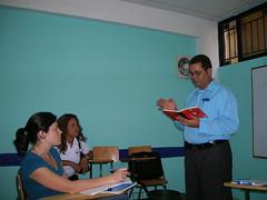 Classroom lecture in Santiago, Dominican Republic