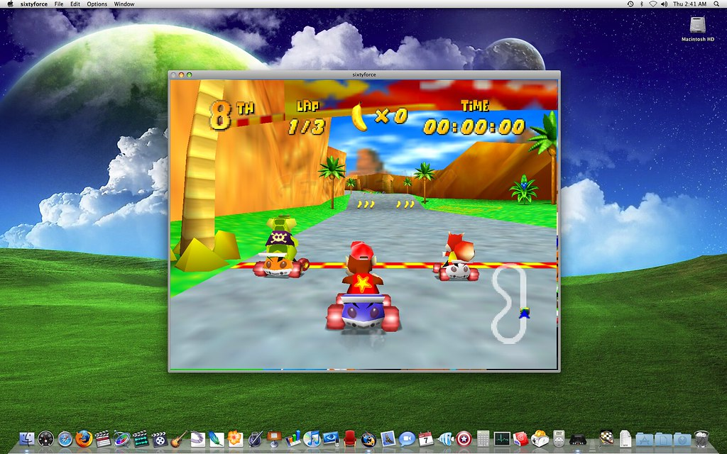 Diddy Kong Racing on a Mac | Diddy Kong is a lot more gorgeo