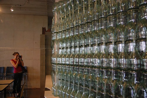 wall of glass bottles | by abmatic