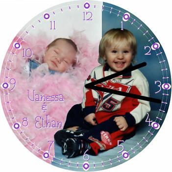 2 Blonde Babes Child Clock | by customclockface