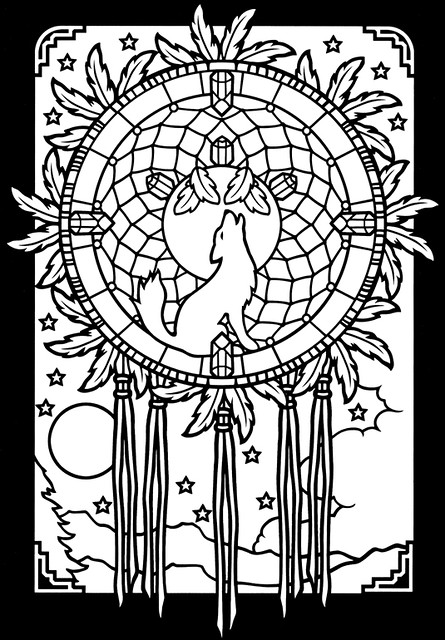 Dreamcatchers Stained Glass coloring book 2 | Min from ...