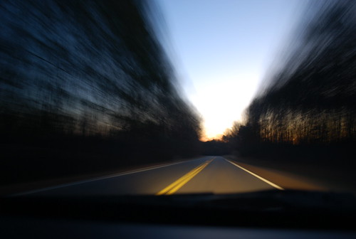 morning travel blue school trees motion black lines yellow sunrise lights virginia dangerous movement nikon solitude alone driving traffic awesome blurred clear pleased 208 d60 spotsylvania nikond60