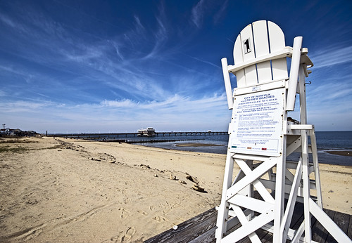 ocean beach virginia sand chair view seat norfolk lifeguard hamptonroads tidewater skynoir bybilldickinsonskynoircom