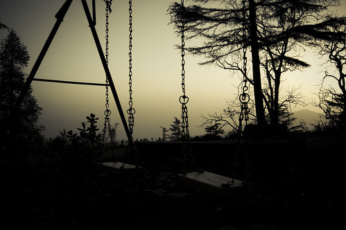 trees sun india mountains nature sunrise early things swing hills swingset himalayas mussoorie uttarakhand nikond40