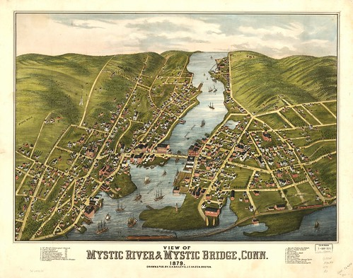 View of Mystic River & Mystic Bridge, Conn. 1879. | by uconnlibrarymagic