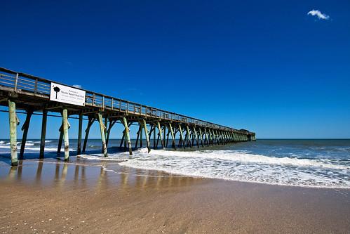 ocean beach water pier sand waves gracias southcarolina azure cerulean blueribbonwinner sigma1020 myrtlebeachstatepark