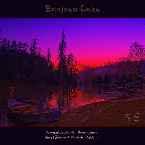 pakistan sunset lake boat kashmir hdr ponch azad rawalakot khaigala banjosa ishtiaq