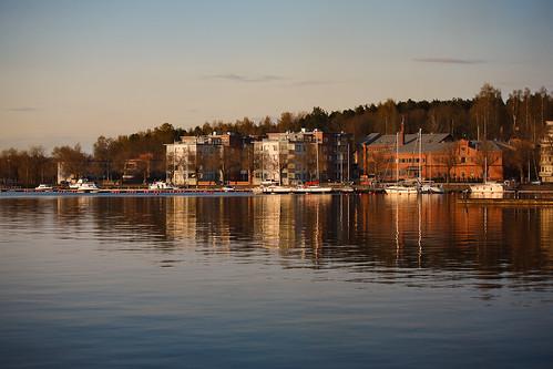 sunset lake reflection canon boat spring harbour sail 5d lappeenranta ef70200mmf4lisusm