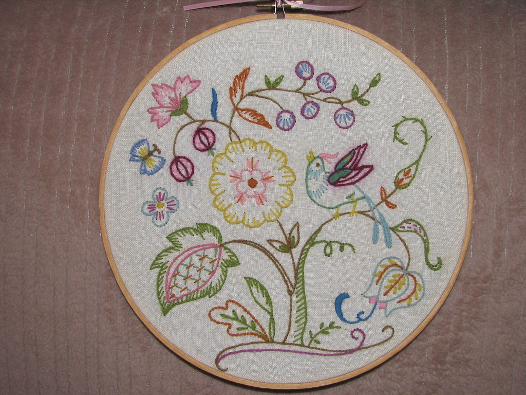Crewel embroidery 1975   My husband bought this for me to do