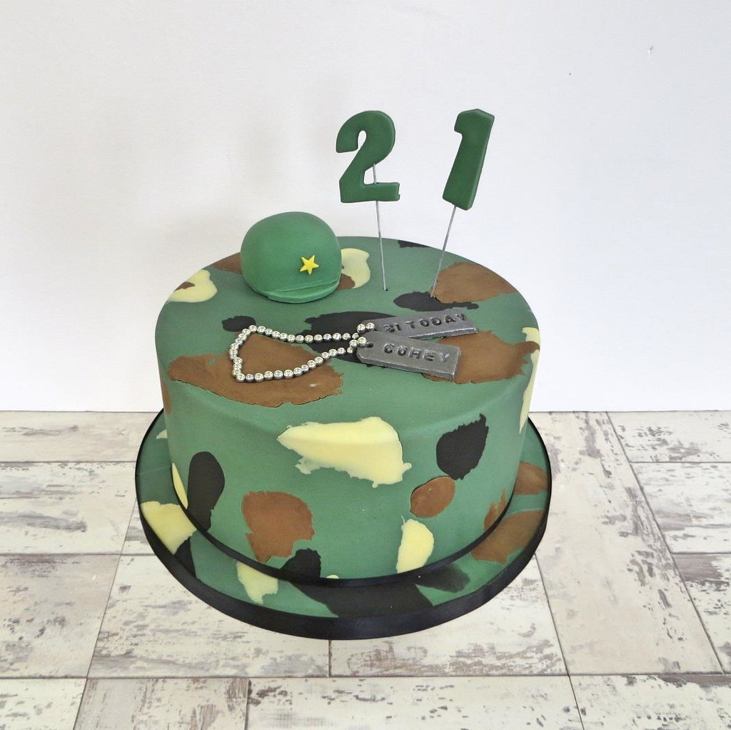 Excellent Army 21St Birthday Cake A Cherry On Top Scotland Flickr Personalised Birthday Cards Paralily Jamesorg