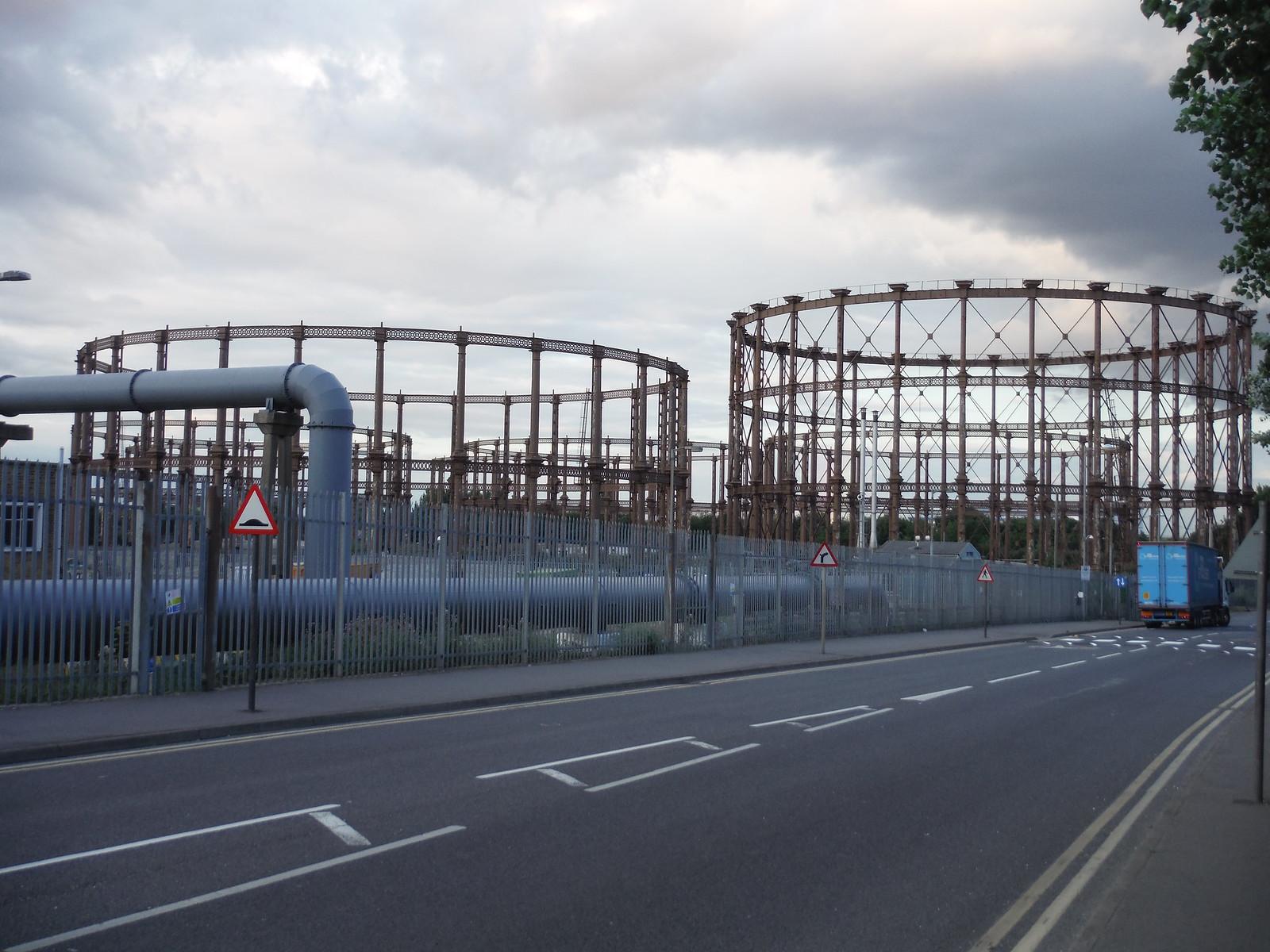 Disused Gasworks SWC Short Walk 21 - The Line Modern Art Walk (Stratford to North Greenwich)