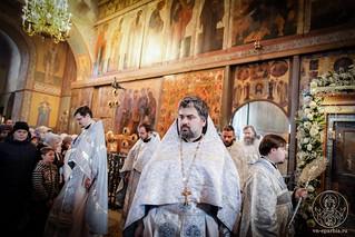 Литургия в Софийском соборе 750