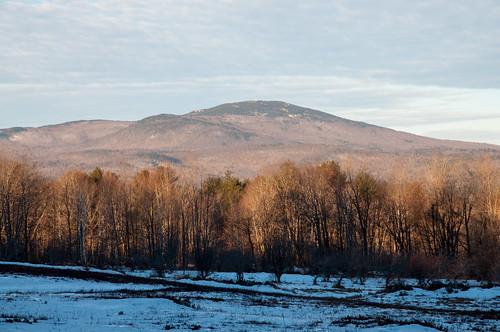 salisbury nh mtkearsarge foothills mountain newengland view winter morning