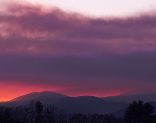 wncforestfires nantahalamountains wildfire sunset landscape franklin nc us unitedstates