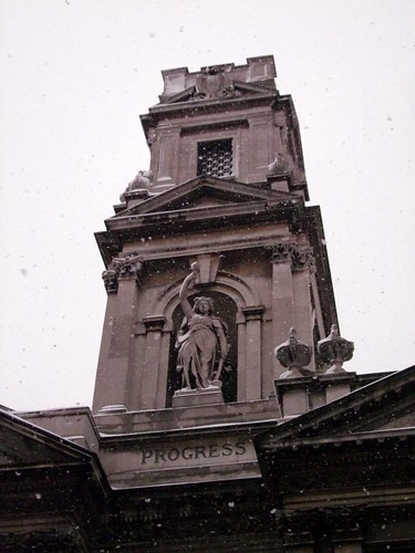 Shoreditch Town Hall: Progress In The Snow, Shoreditch Town Hall