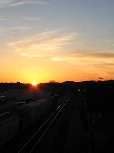 railroad sunset cloud virginia abingdon