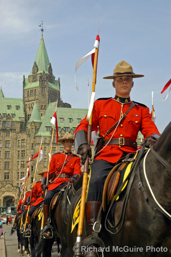 Mounties at Parliament on Canada Day | Dressed in red serge,… | Flickr