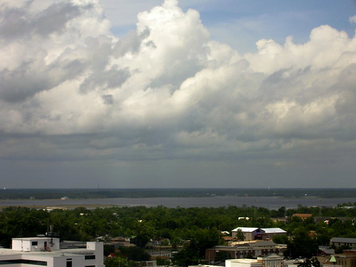 trees sky clouds buildings mississippi day gulf cloudy casino biloxi hotelview beaurivage