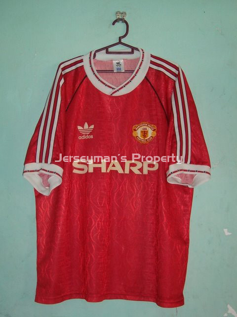 new product 80021 d9092 1990-1992 Man United Home Jersey(XL) | 1990-1992 Man United ...